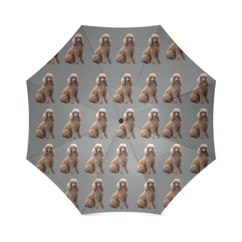 Poodle Umbrella - Grey