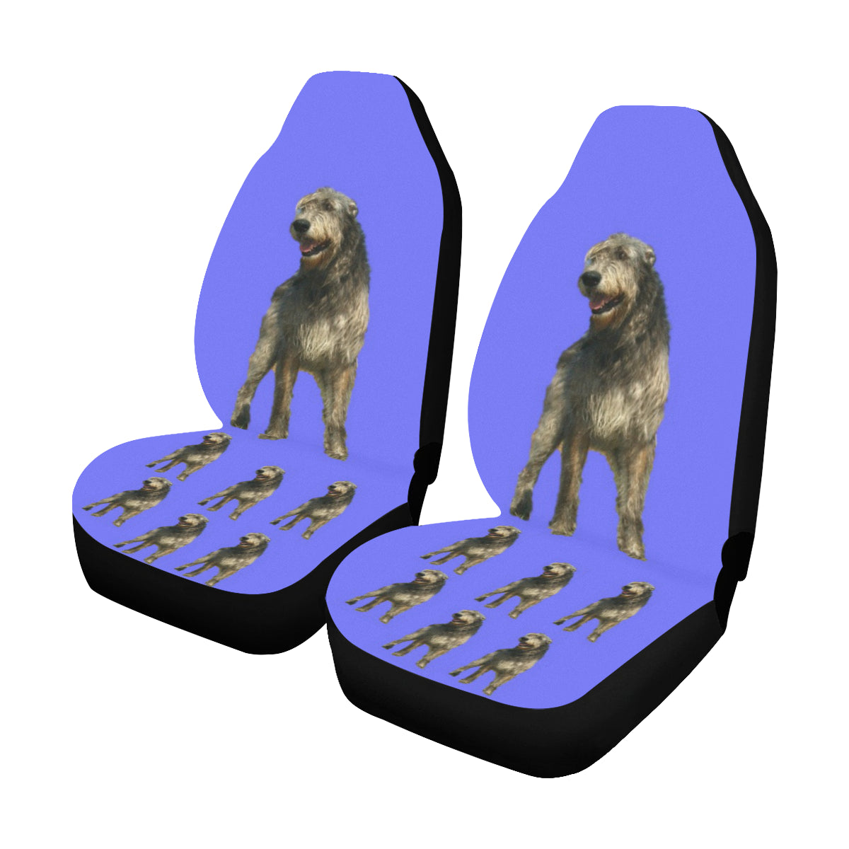 Irish Wolfhound Car Seat Covers (Set of 2)