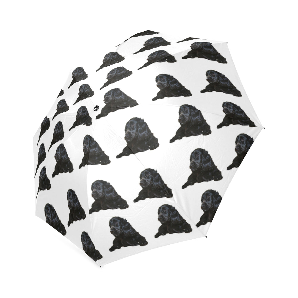 Cocker Spaniel Umbrella - Black on White