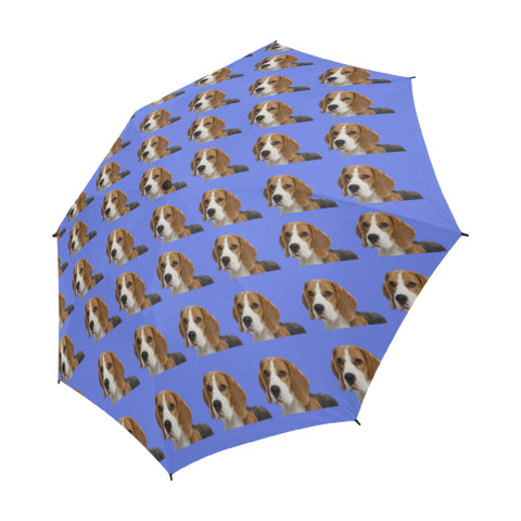 Beagle Umbrella -Blue - Semi Automatic
