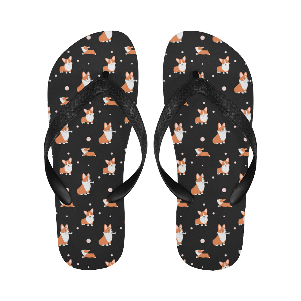 Corgi Flip Flops - Cartoon