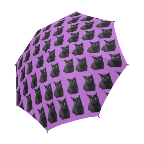 Black Cat Umbrella - Semi-Automatic