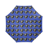 Maltipoo Umbrella - Black & White Semi Auto