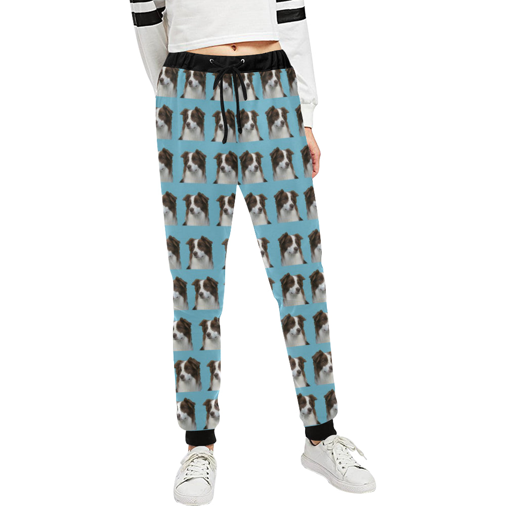 Border Collie Pants - Chocolate & White