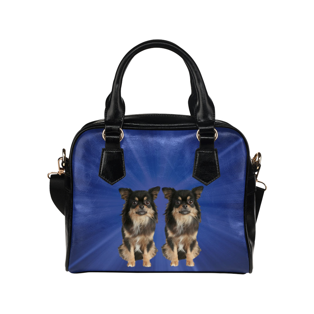 Chihuahua Shoulder Bag - Blue Long Hair