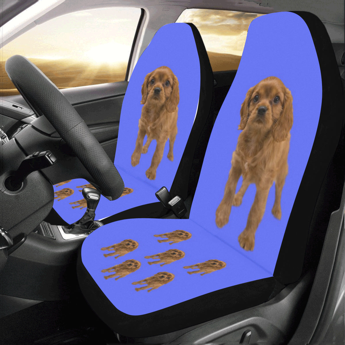 Cavalier King Charles Spaniel Car Seat Covers - Ruby (Set of 2)