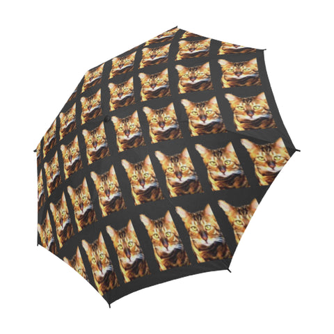 Bengal Cat Umbrella - Semi-Automatic