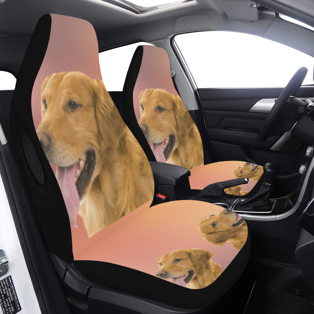 Golden Retriever Car Seat Covers (Set of 2) - Airbag Compatible