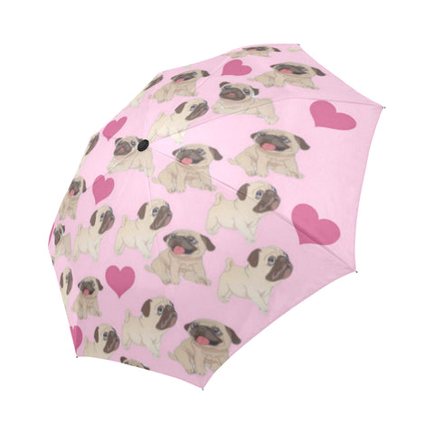 Pug Heart Automatic Umbrella