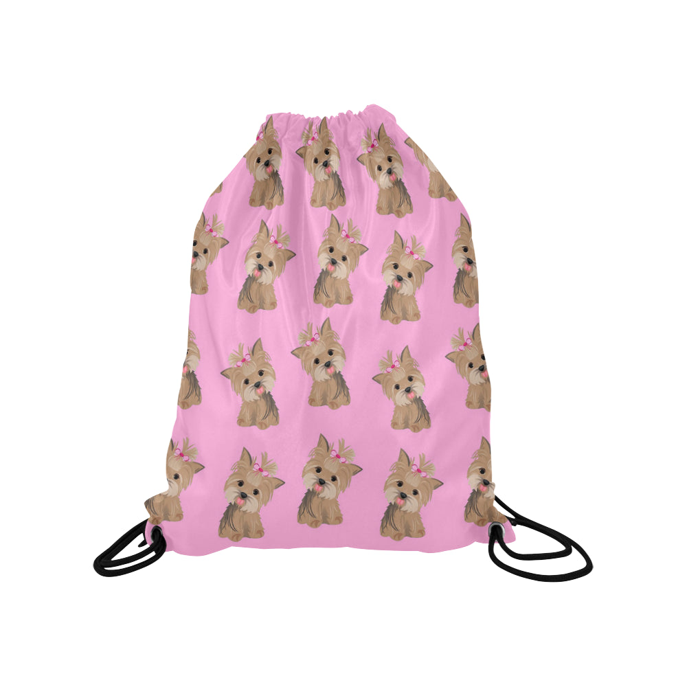 Cute Yorkie Drawstring Bag