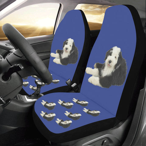 Old English Sheepdog Car Seat Covers ( Set of 2)
