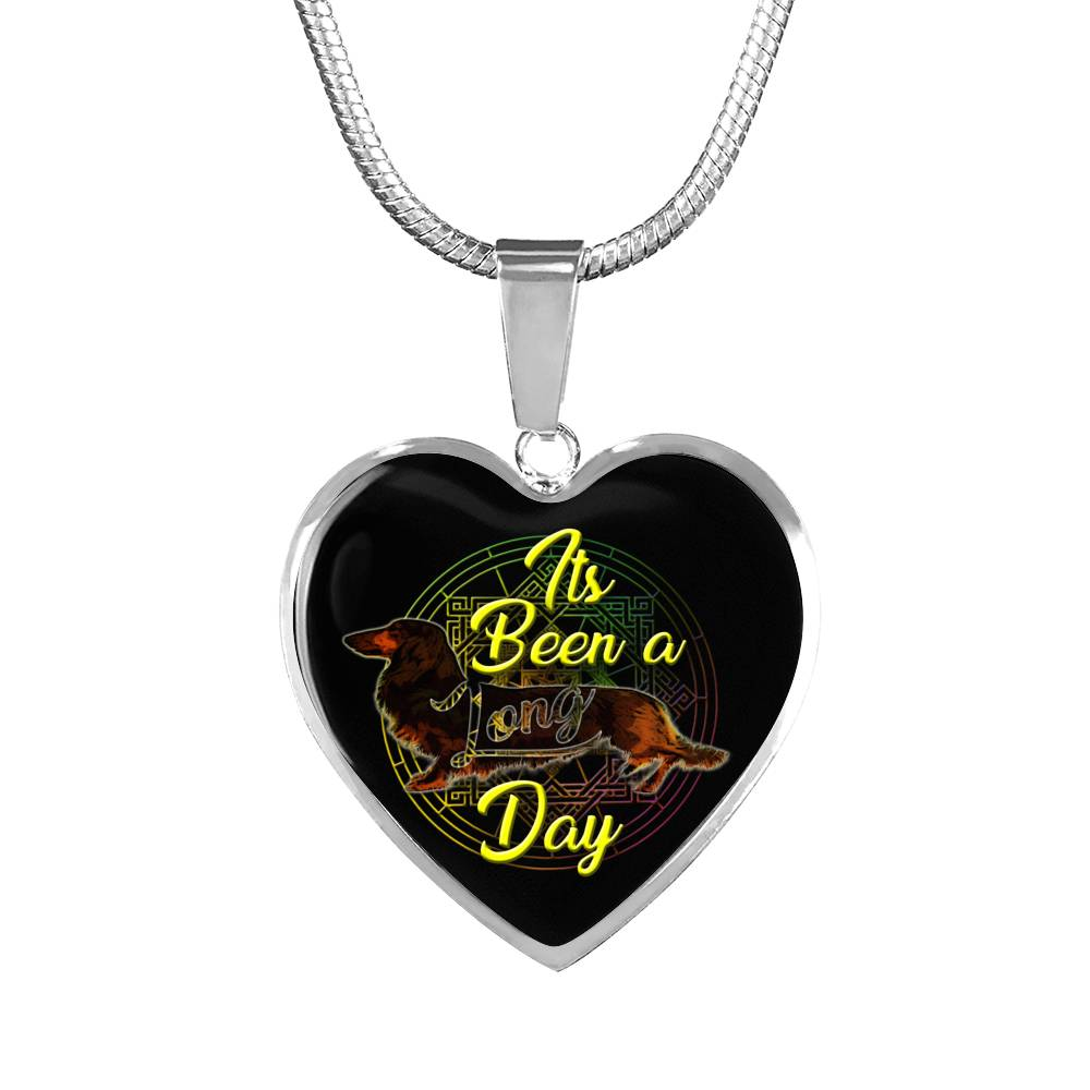 Dachshund Long Day Heart Necklace/Bangle