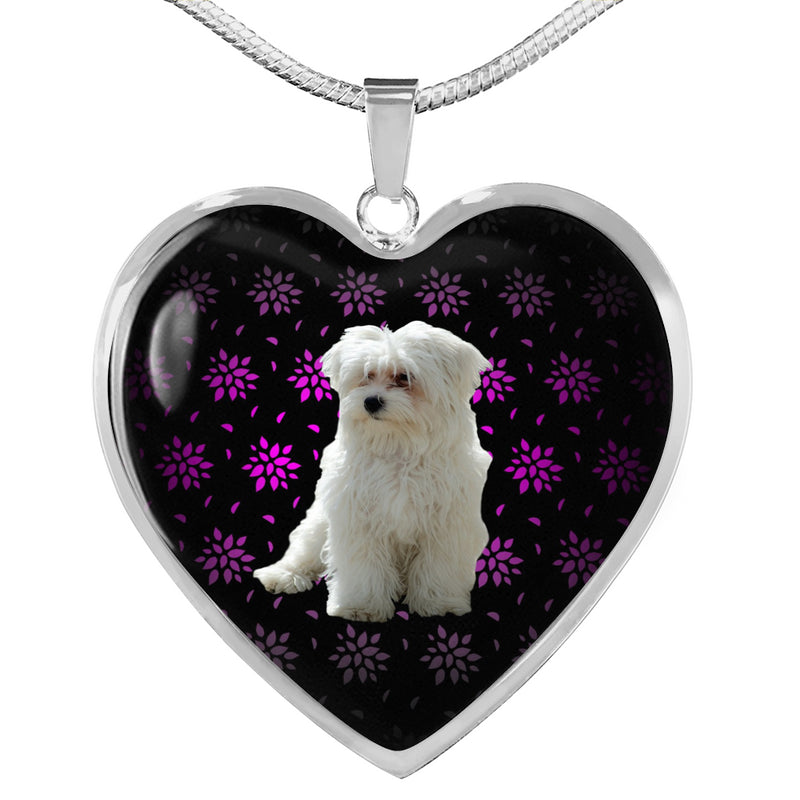 Maltese Heart Necklace