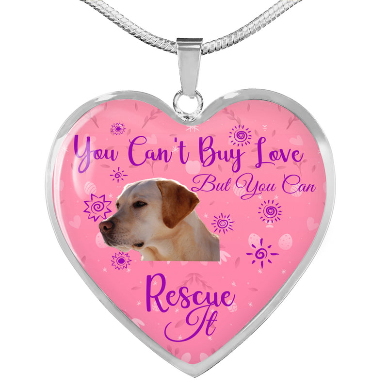 Yellow Lab Can't Buy Love Necklace