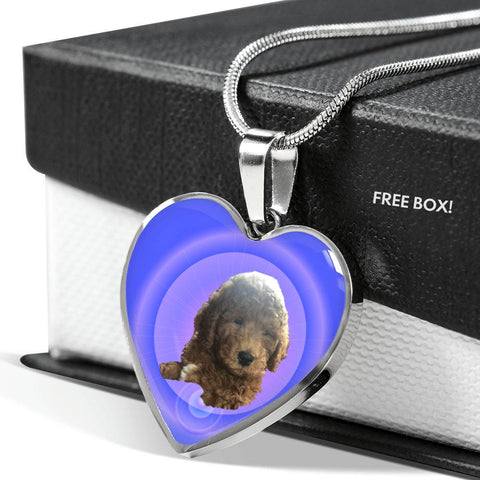 Labradoodle Heart Necklace - Jordi
