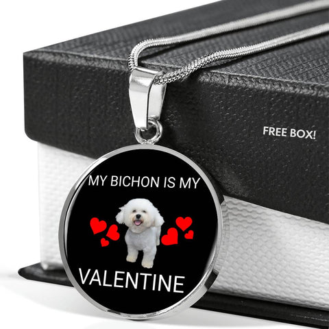My Bichon Is My Valentine Necklace