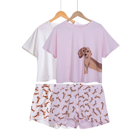2 Piece Dachshund PJ Set