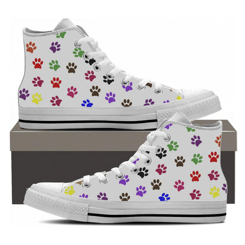 Women's High Top Dog Paw Shoes