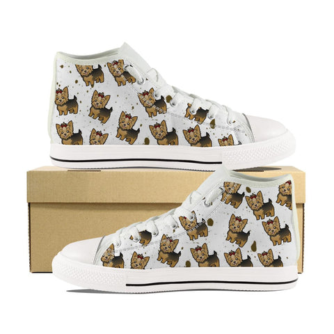 Cartoon Yorkie Canvas Shoes