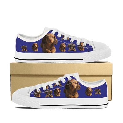 DACHSHUND PUPPY CANVAS SHOES