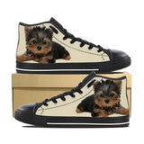 YORKIE PUPPY CANVAS SHOES
