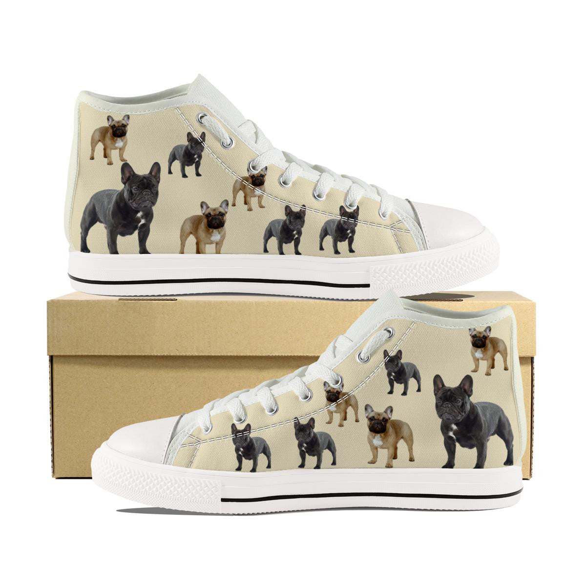 FRENCH BULLDOG CANVAS SHOES