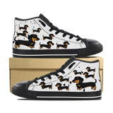 DACHSHUND KIDS CANVAS SHOES