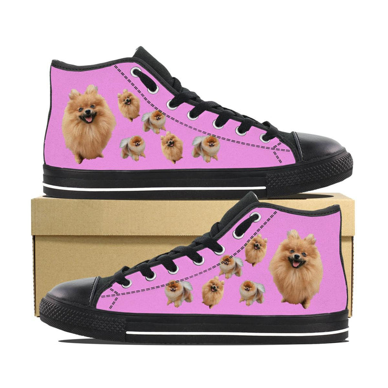 POMERANIAN PINK CANVAS SHOES