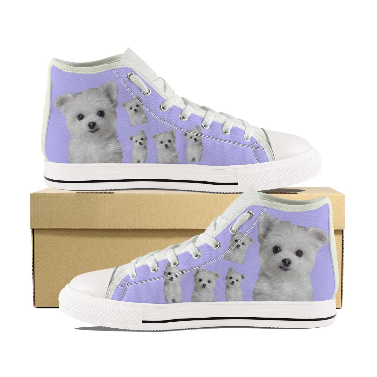 MALTESE PUPPY CANVAS SHOES