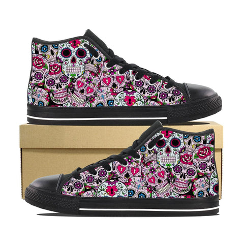 SUGAR SKULL CANVAS SHOES