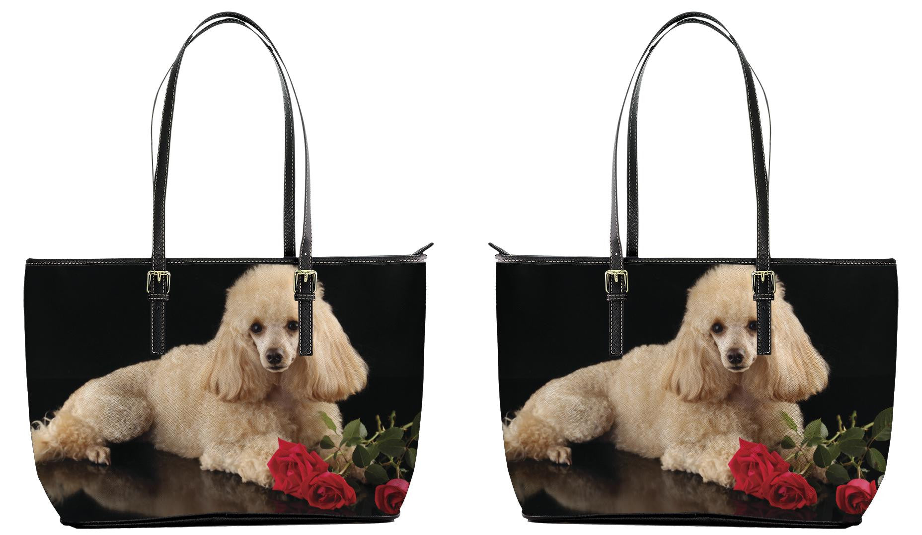 Poodle Leather Tote Bag