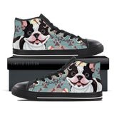 French Bulldog Kids Canvas Shoes