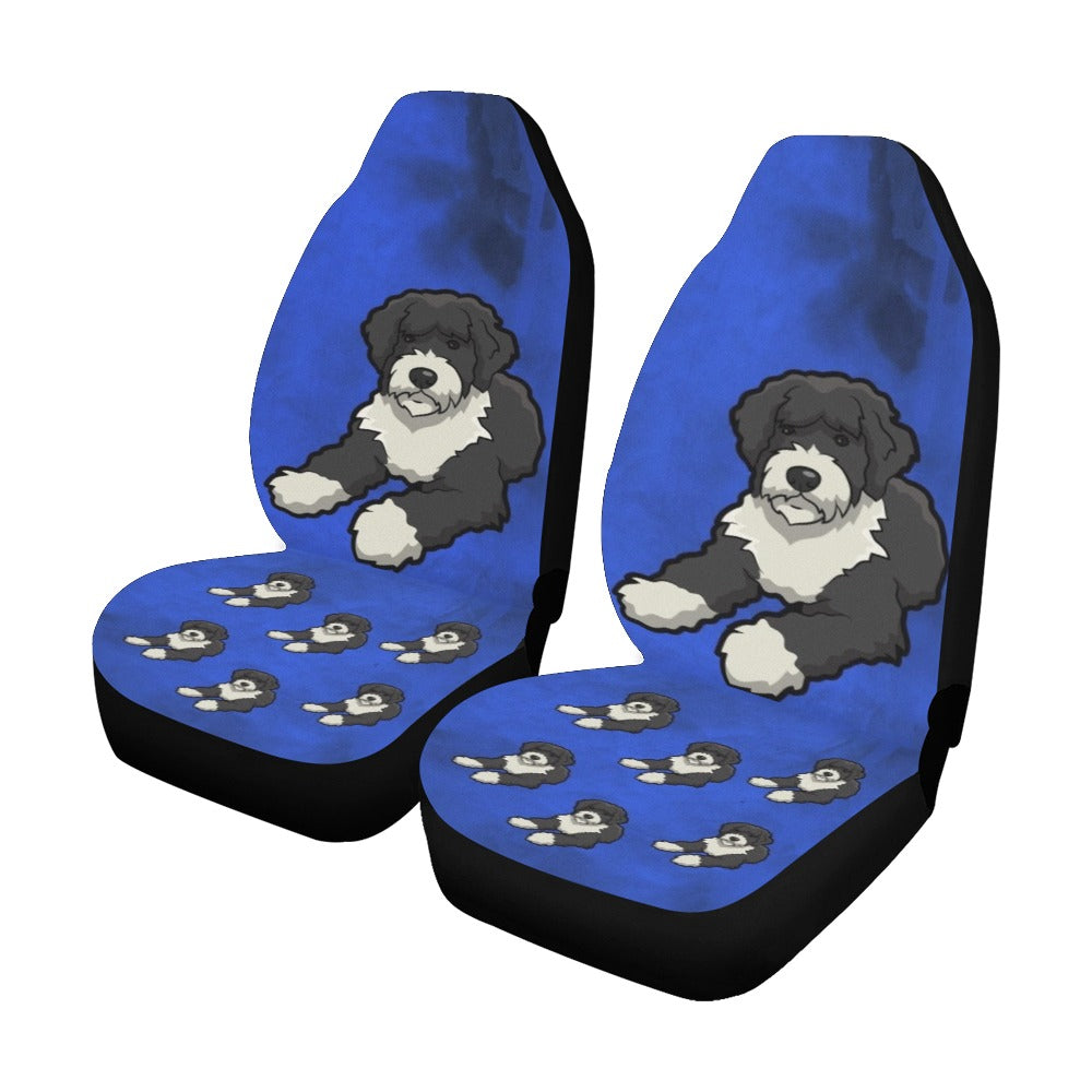 Portuguese Water Dog Car Seat Covers (Set of 2)