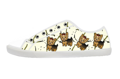 Cartoon Yorkie Low Top Shoes