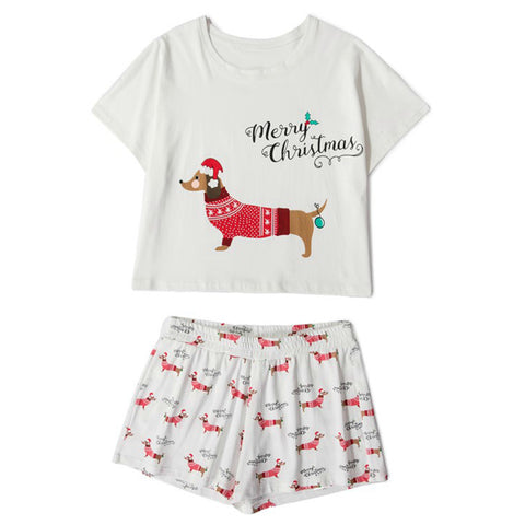 Christmas Dachshund PJ Set