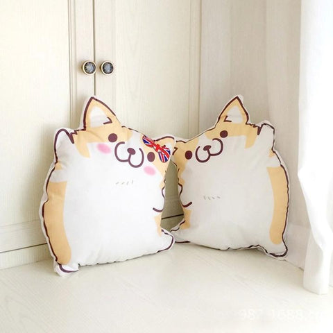 Cartoon Corgi Plush Pillow