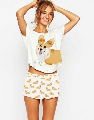 2 Piece Corgi PJ Set