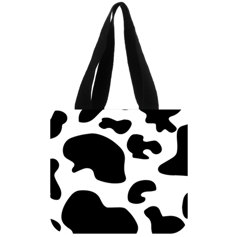 Cow Print Cotton Tote Bag
