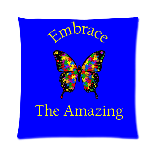 "Autism Awareness Custom Zippered Pillow Case (16""x16"")"