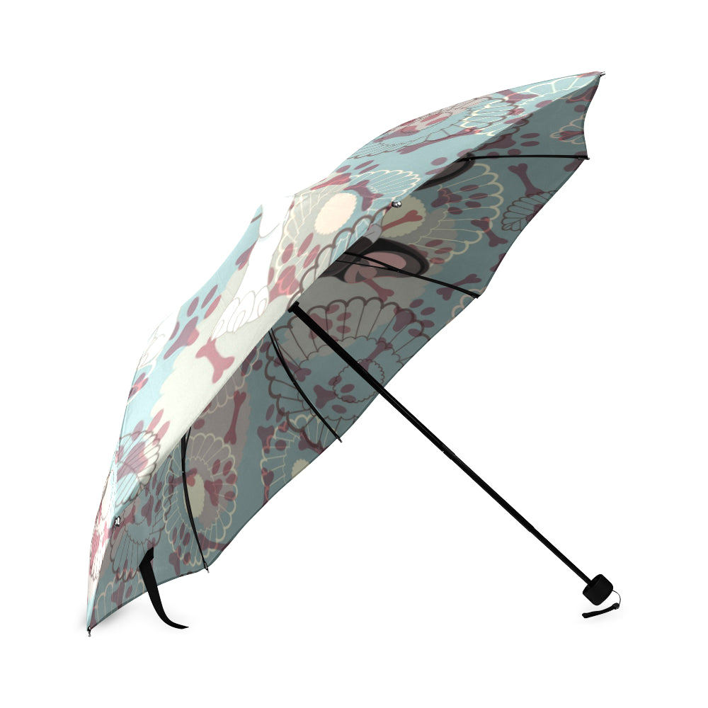 French Bulldog Floral Umbrella