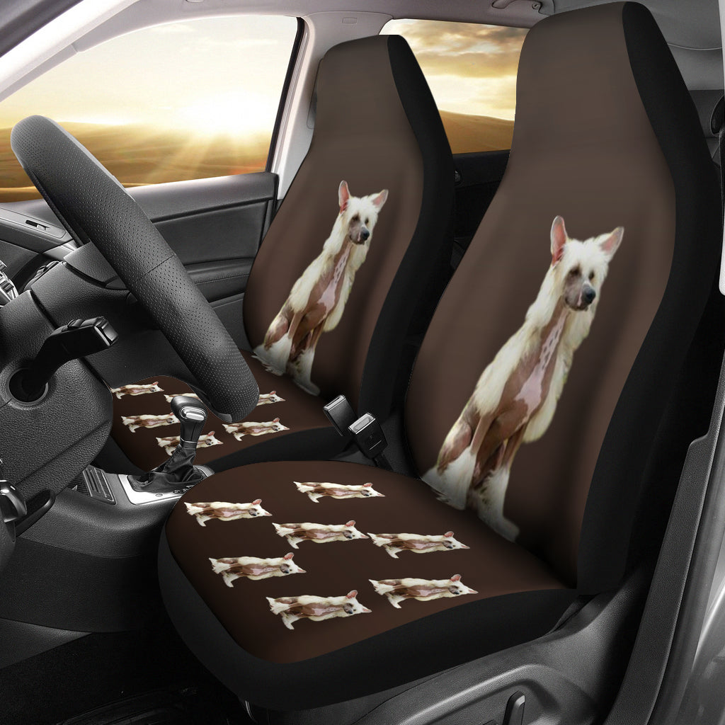 Chinese Crested Car Seat Cover (Set of 2)