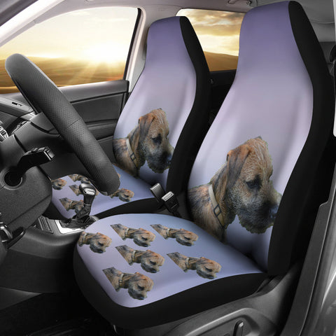 Border Terrier Car Seat Cover (Set of 2)