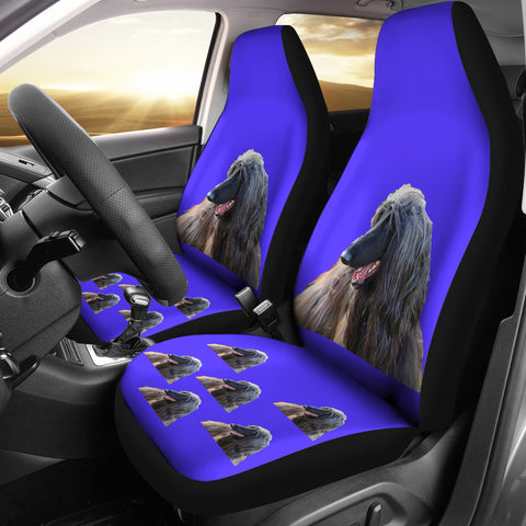 Afghan Hound Car Seat Covers (Set of 2)