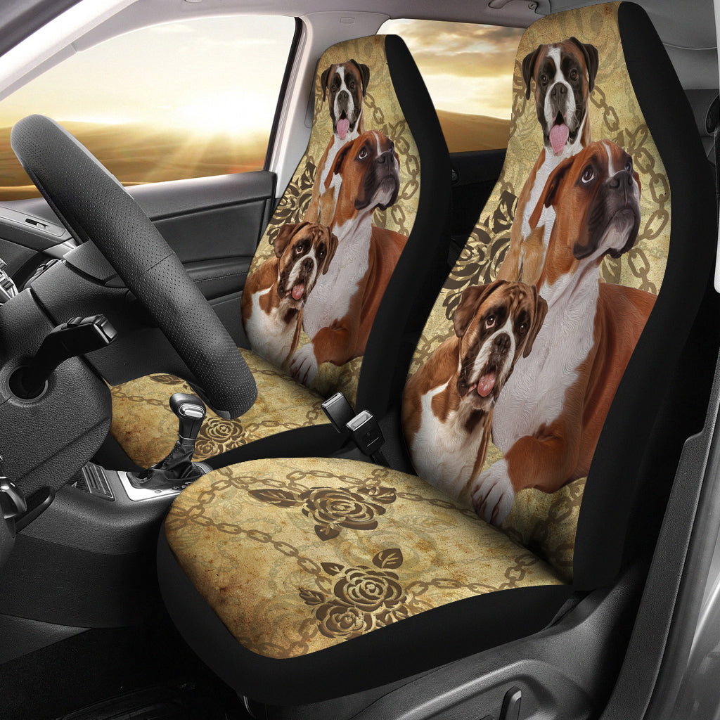 Boxer Car Seat Covers - 3 (Set of 2)
