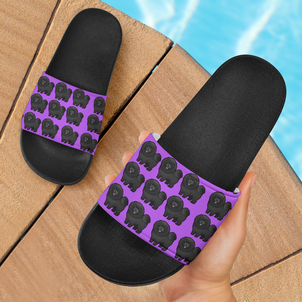 Chow Chow Slides - Purple