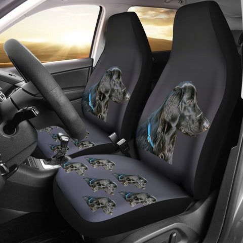 Flat Coat Retriever Car Seat Covers (Set of 2)