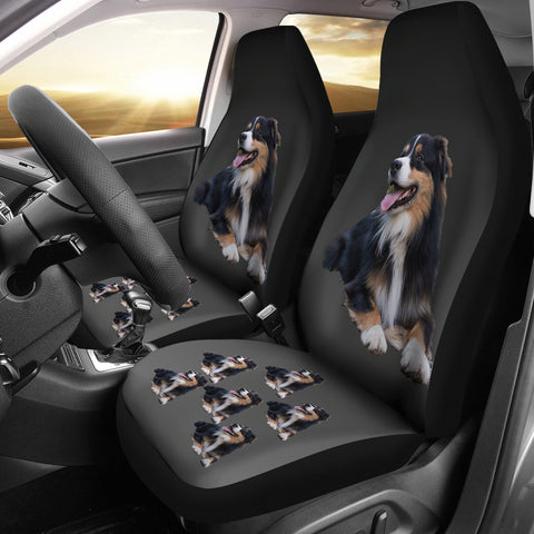 Australian Shepherd Black Car Seat Cover (Set of 2)