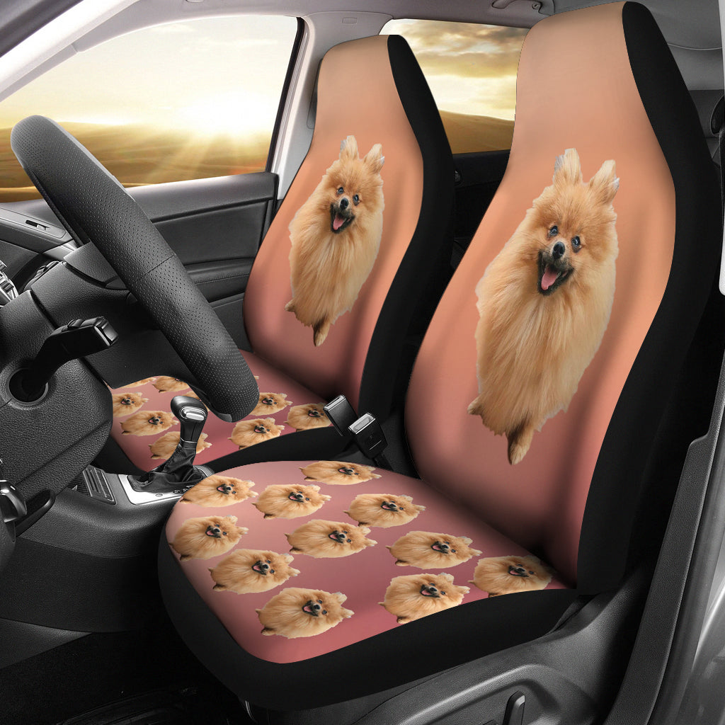 Pomeranian Car Seat Cover