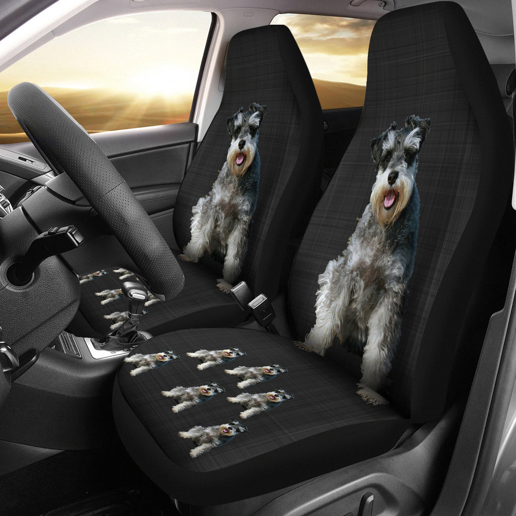 Schnauzer Car Seat Cover (Set of 2)