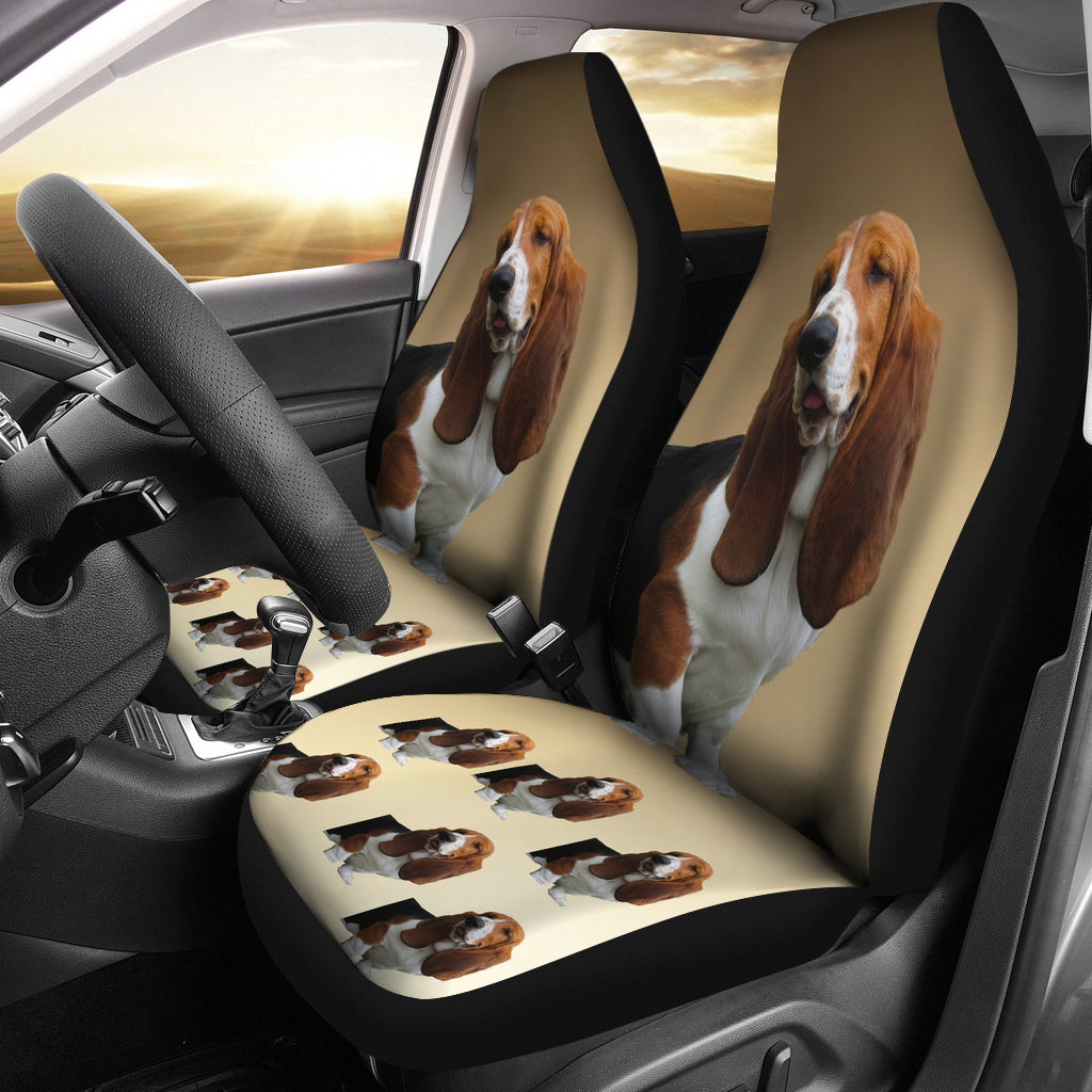 Basset Hound Car Seat Cover (Set of 2)